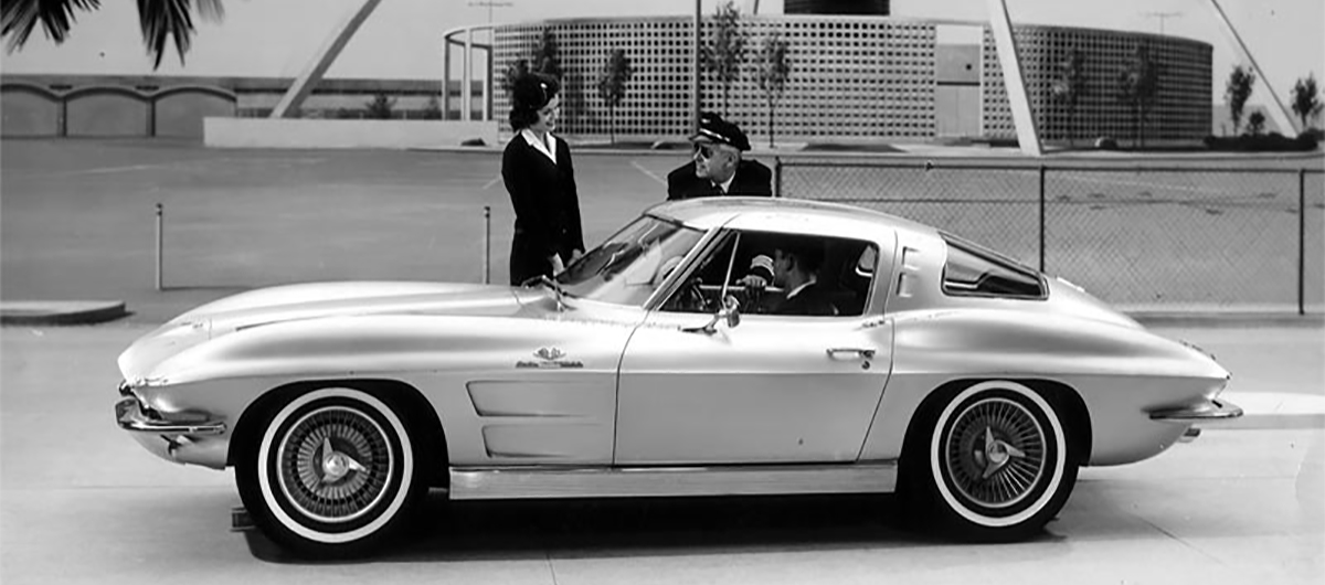 1963 Corvette press photograph LAX